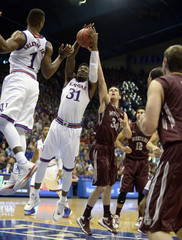 NCAA Basketball: Montana at Kansas