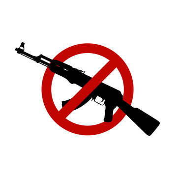assault rifle silhouette sign