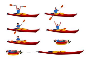 man in kayak set 02