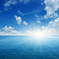 Blue sea and sun