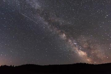 Milky Way Night Sky with Meteor
