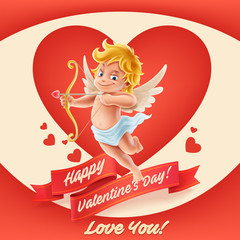 Wall Mural - happy valentine day
