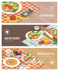 Healthy food and diet