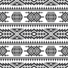 American aztec vector seamless texture. Native tribal indian repetitive pattern