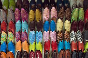 Ethnic shoes market. Slippers shoes