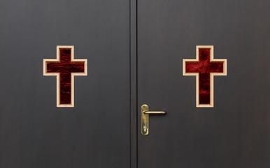 Türe einer Leichenhalle - Aufbahrungshalle