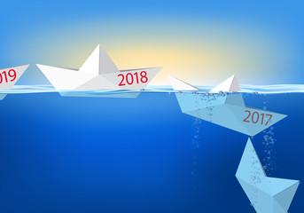2018 - carte de vœux - présentation - année, objectif - bilan - entreprise