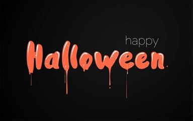 Happy halloween text. Happy Halloween funny calligraphy.  Vector illustration