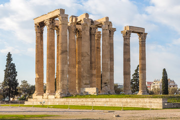 Temple of Olympian Zeus in Greek capital city Athens.