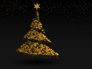 Astract Christmas tree from orange stars.