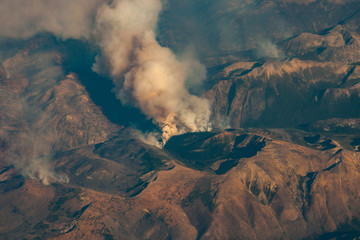 wildfire smoke plumes