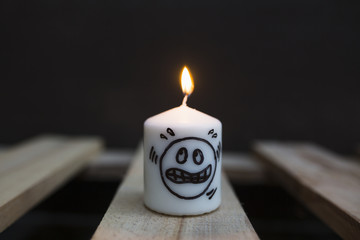 Burning candle concept