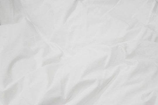 Wrinkled sheet  paper white and empty space for text background.