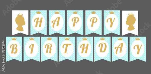 graphic relating to Happy Birthday Printable Letters known as Printable template flags. Adorable pennant banner as flags with