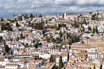 Views of the neighborhood of Albayzin, Granada