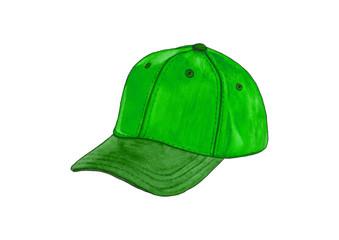 Colorful fashion cap isolated on white background. fashion baseball hat