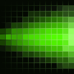 Green Luminous Tiles in the Dark . Abstract Black Background . Template for your Design . Isolated Vector Illustration