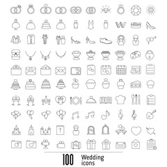 Outline web icon set