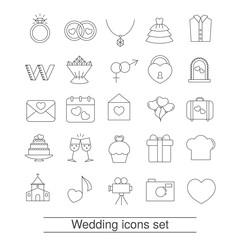 Outline web icon set