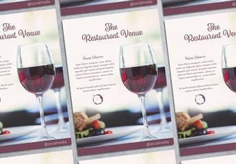 Restaurant Wine Flyer Layout 1