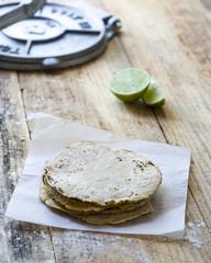 Traditional mexican homemade tortillas