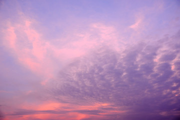 Sky and clouds / Sky and clouds at twilight. Soft focus.