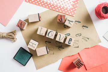 "The Word Love"" Written with Stamps""""he Word ""Love"" Written wi""""e Word ""Love"" Wr"""" Word ""L""""W"""