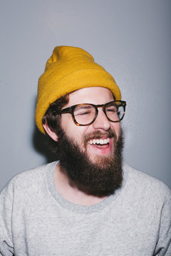 A Young Man with A Beard and Beanie