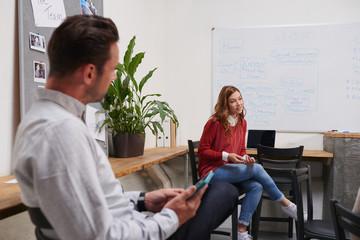 Creative professional team brainstorming communication concept