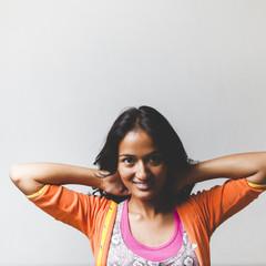 Portrait of a beautiful young Nepali woman.