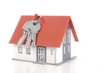 Model house and house keys
