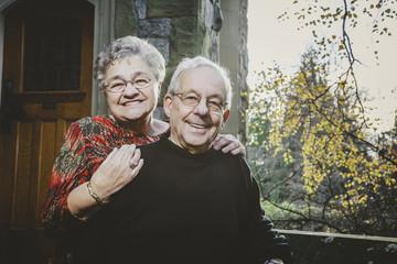 Cute Elderly Couple Portraits