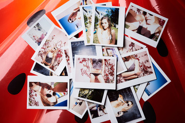 Instant shots of young girl