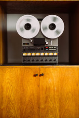 Vintage reel-to-reel tape recorder