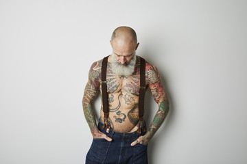 Man With Tatoo Studio Portraits