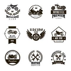 9 emblems of motor clubs
