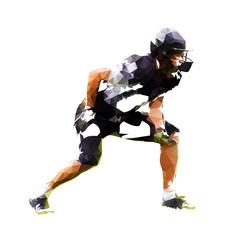 Football player, abstract geometric vector illustration