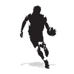 Basketball player, abstract vector silhouette