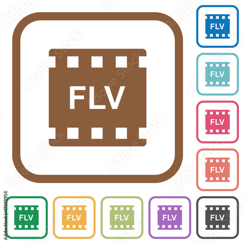 quotflv movie format simple iconsquot stock image and royalty