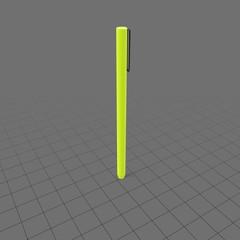 Slim pen with lid