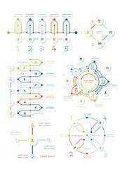 Thin line timeline charts