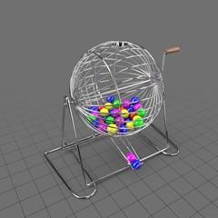 Round bingo cage