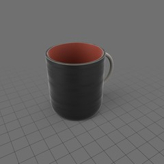 Plastic coffee mug