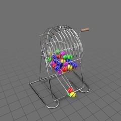 Thin bingo cage