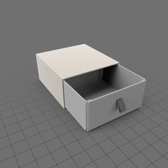 Small box with pullout drawer