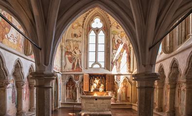 Medieval chapel in the castle of Zvikov, Czech Republic