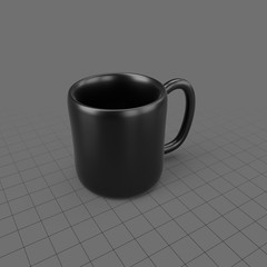 Black ceramic coffee mug