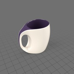 Curved coffee cup