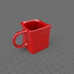 Geometric red coffee cup