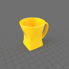 Modern yellow coffee cup 2